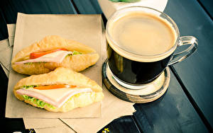 Bilder Kaffee Fast food Sandwich Brötchen Tasse Frühstück