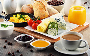 Wallpaper Coffee Juice Fruit preserves Honey Bread Cheese Tomatoes Breakfast Cup Highball glass Food