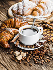 Images Coffee Pastry Chocolate Croissant Cup Grain Sugar