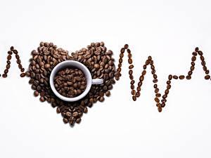 Hintergrundbilder Kaffee Weißer hintergrund Herz Becher Getreide Lebensmittel