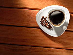 Fotos Kaffee Bretter Tasse Getreide Untertasse das Essen
