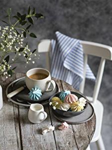 Fotos Kaffee Zefir Cappuccino Bretter Tasse Die Sahne das Essen