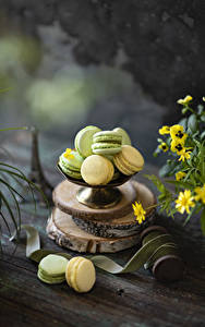 Desktop wallpapers Cookies Boards French macarons Multicolor Food