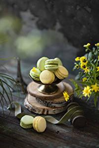 Desktop wallpapers Cookies Boards French macarons Multicolor Food