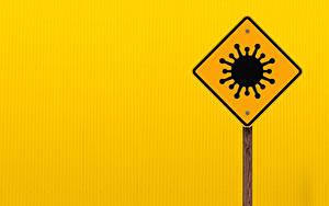 Hintergrundbilder Coronavirus Farbigen hintergrund sign