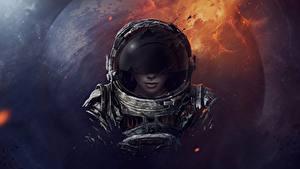 Photo Astronaut Helmet