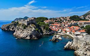 Fotos Kroatien Dubrovnik Meer Küste Gebäude Felsen Städte