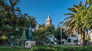 Hintergrundbilder Kroatien Haus Denkmal Palmengewächse Strauch Arbe