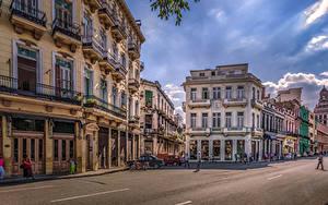 Hintergrundbilder Kuba Haus Straße Stadtstraße HDRI Havana