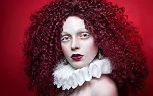 Hintergrundbilder Locken Rotschopf Haar Schminke junge frau