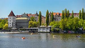 Bilder Tschechische Republik Prag Haus Flusse Städte