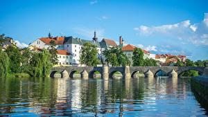 Fotos Tschechische Republik Fluss Brücken South Bohemian region, Otava River, Pisek Städte