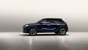Hintergrundbilder Crossover Seitlich Blau Metallisch Französische DS 3 Crossback, 2020 Autos