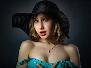 Hintergrundbilder Starren Der Hut Gesicht Dasha, Nikolay Bobrovsky junge frau