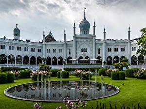 Images Denmark Copenhagen Park Houses Fountains Landscape design Tivoli Gardens