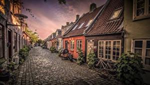 Hintergrundbilder Dänemark Haus Straße Aarhus