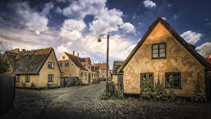 Fotos Dänemark Gebäude Straße Straßenlaterne Dragor Städte