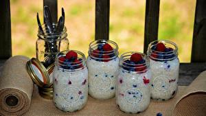 Bilder Dessert Joghurt Beere Einweckglas Lebensmittel