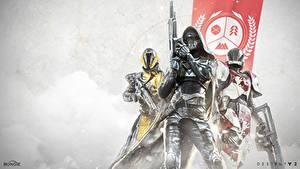 Hintergrundbilder Destiny 2 Krieger Helm Kapuze Rüstung Drei 3 Spiele