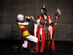 Fonds d'écran Diablo Bâton Les robes Monk Wizard Jeux Fantasy Filles