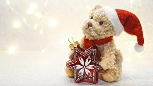 Bilder Hund Neujahr Kleine Sterne Mütze Sitzend
