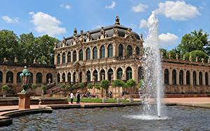 Desktop wallpapers Dresden Germany Fountains Palace Zwinger, Saxony Cities