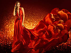 Wallpaper Gown Red Girls