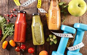 Hintergrundbilder Getränke Fitness Hantel Weckglas Messband das Essen