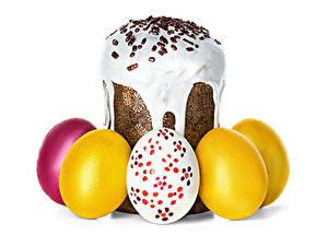 Hintergrundbilder Ostern Backware Kulitsch Zuckerguss Ei