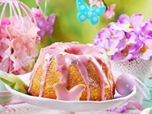 Hintergrundbilder Ostern Backware Kulitsch Keks Zuckerguss Ei