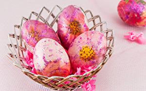Hintergrundbilder Ostern Farbigen hintergrund Ei Design