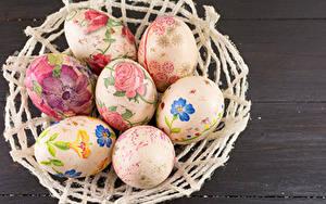 Bilder Ostern Bretter Ei Design