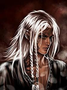 Fotos Elfe Haar Zopf Blond Mädchen Fantasy Mädchens