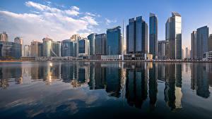 Bilder VAE Dubai Gebäude Wolkenkratzer Business Bay Skyline Städte