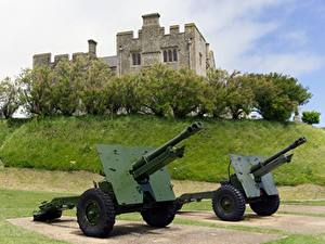 Image England Cannon Castles Two Grass Dover Castle, Kent, city of Dover Cities