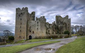 Hintergrundbilder England Burg Ruinen Castle Bolton Städte