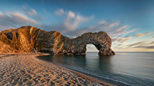 Wallpaper England Coast Cliff Arch Beach Dorset Nature