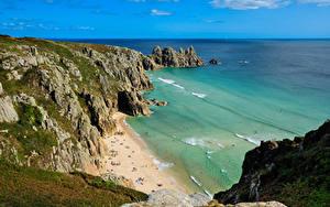 Fotos England Küste Meer Felsen Cornwall Natur