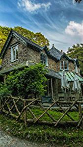 Hintergrundbilder England Haus Design Zaun Lynmouth Städte