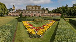 Hintergrundbilder England Haus Garten Hotel Rasen Strauch Cliveden House and Garden Städte