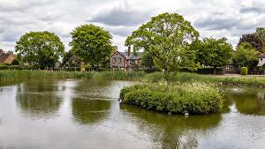 Bilder England Haus Teich Dorf Bäume Tylers Green Natur