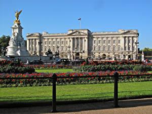 Bilder England Denkmal Palast Design Rasen Buckingham Palace Städte