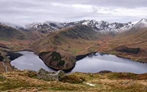 Hintergrundbilder England Gebirge See Wolke Haweswater, Cumbria