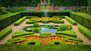 Fotos England Park Springbrunnen London Design Strauch Hampton Court Palace