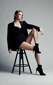 Images Evgeniy Bulatov Modelling Chairs Sit Legs Shorts Suit jacket Eva Alekseenko female