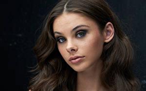 Fotos Augen Gesicht Blick Meika Woollard Mädchens