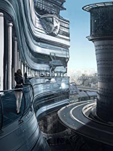 Hintergrundbilder Fantastische Welt Straße Gebäude Fantasy