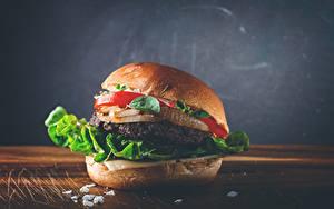 Fonds d'écran Restauration rapide Hamburger Légume En gros plan Nourriture