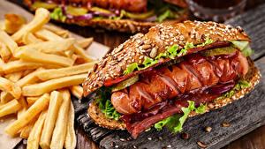 Hintergrundbilder Fast food Hotdog Pommes frites Brötchen Frankfurter Würstel