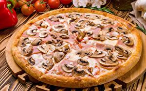 Fotos Fast food Pizza Pilze
